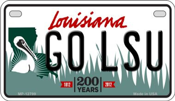 Go LSU Wholesale Novelty Metal Motorcycle Plate MP-12799