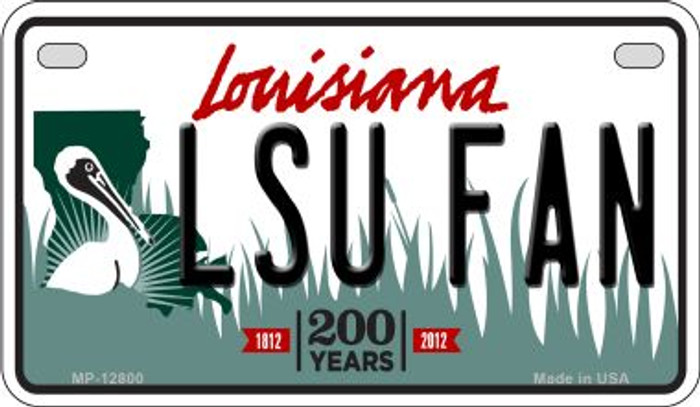 LSU Fan Wholesale Novelty Metal Motorcycle Plate MP-12800