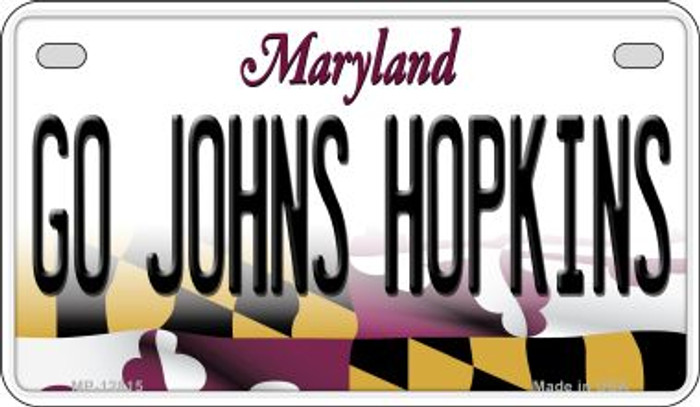 Go Johns Hopkins Wholesale Novelty Metal Motorcycle Plate MP-12815