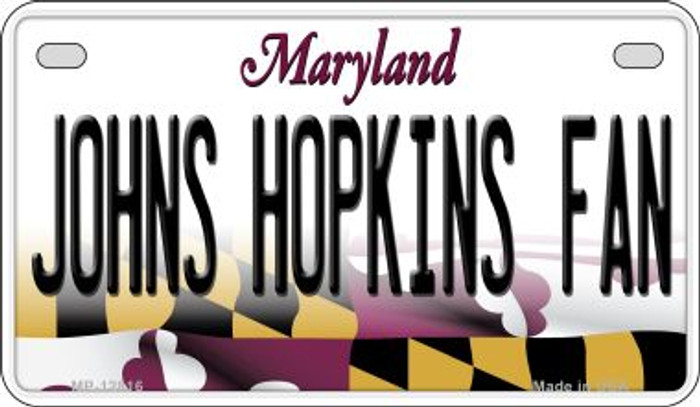 Johns Hopkins Fan Wholesale Novelty Metal Motorcycle Plate MP-12816