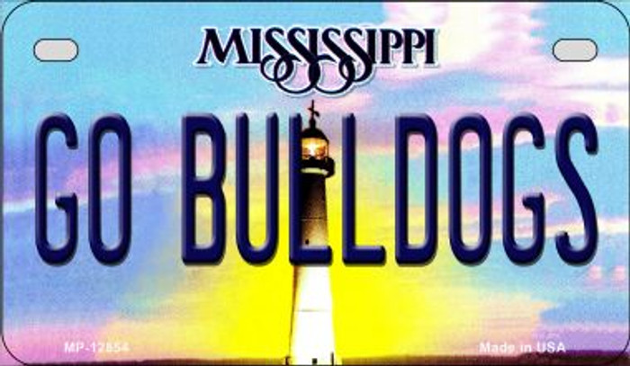 Go Bulldogs Wholesale Novelty Metal Motorcycle Plate MP-12854