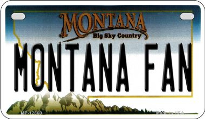 Montana Fan Wholesale Novelty Metal Motorcycle Plate MP-12860