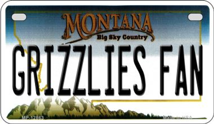 Grizzlies Fan Wholesale Novelty Metal Motorcycle Plate MP-12863