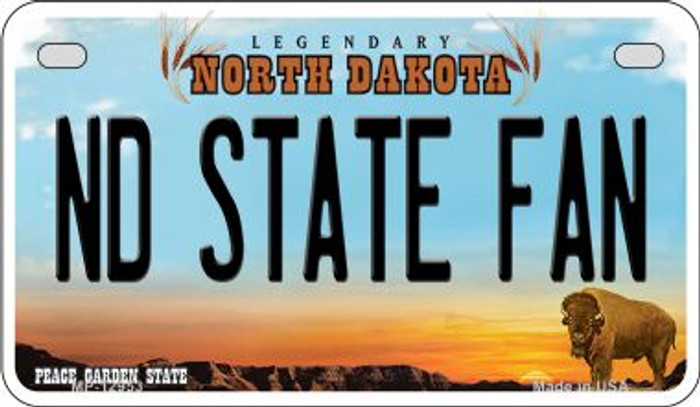 North Dakota State Fan Wholesale Novelty Metal Motorcycle Plate MP-12953