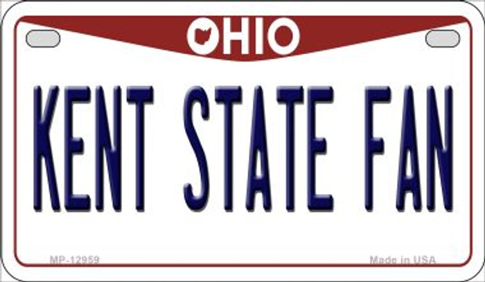 Kent State Fan Wholesale Novelty Metal Motorcycle Plate MP-12959