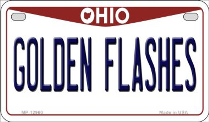 Golden Flashes Wholesale Novelty Metal Motorcycle Plate MP-12960