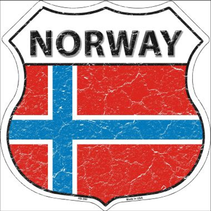 Norway Country Flag Highway Shield Wholesale Metal Sign