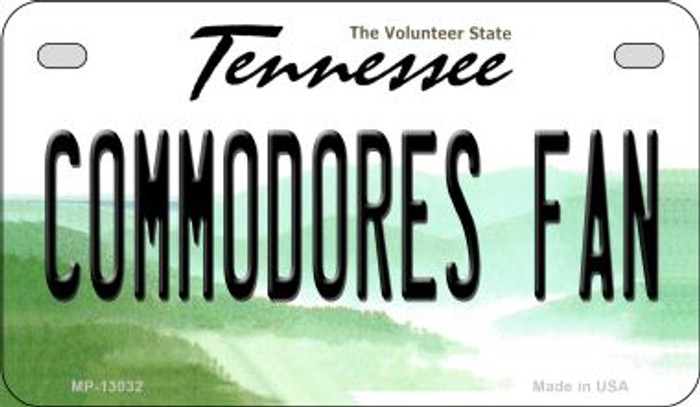 Commodores Fan Wholesale Novelty Metal Motorcycle Plate MP-13032
