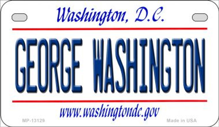 George Washington Wholesale Novelty Metal Motorcycle Plate MP-13129