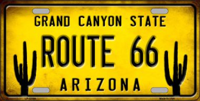 Arizona Route 66 Wholesale Novelty Metal License Plate LP-12309