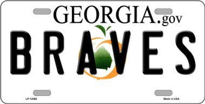 Georgia Braves Wholesale Novelty Metal License Plate LP-12060