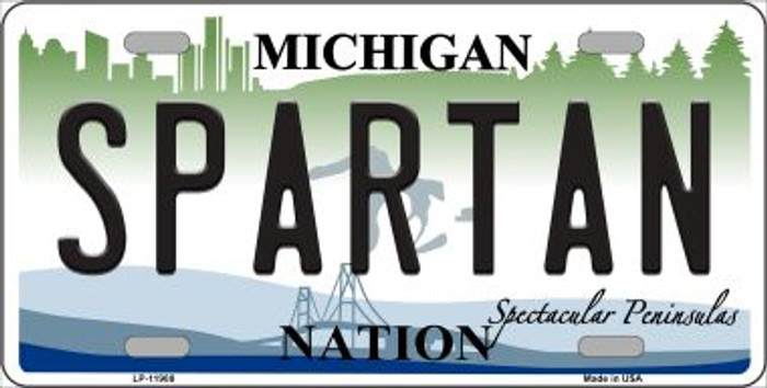 Michigan Spartan Wholesale Novelty Metal License Plate LP-11908