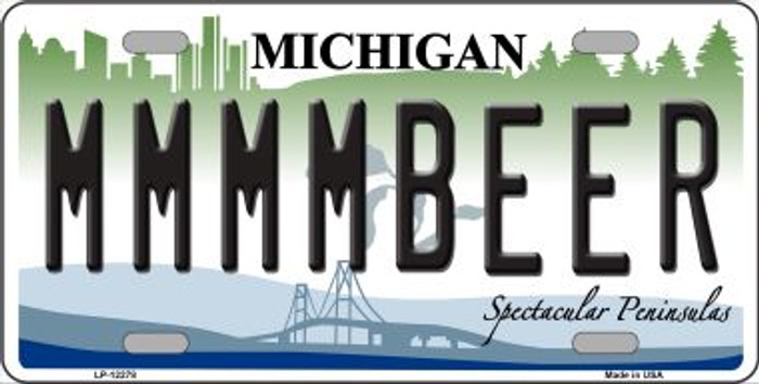Michigan MMMMBeer Wholesale Novelty Metal License Plate LP-12278