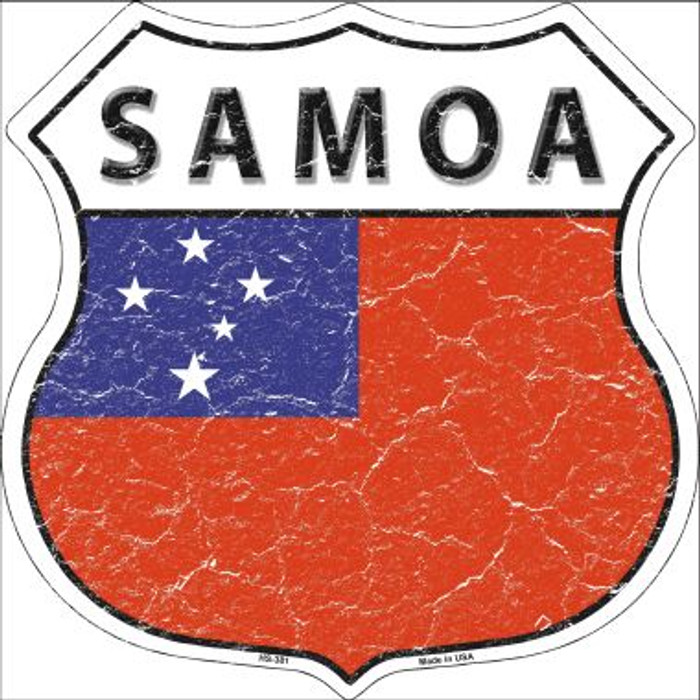 Samoa Country Flag Highway Shield Wholesale Metal Sign