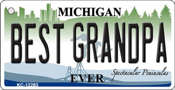 Michigan Best Grandpa Wholesale Novelty Metal Key Chain KC-12283