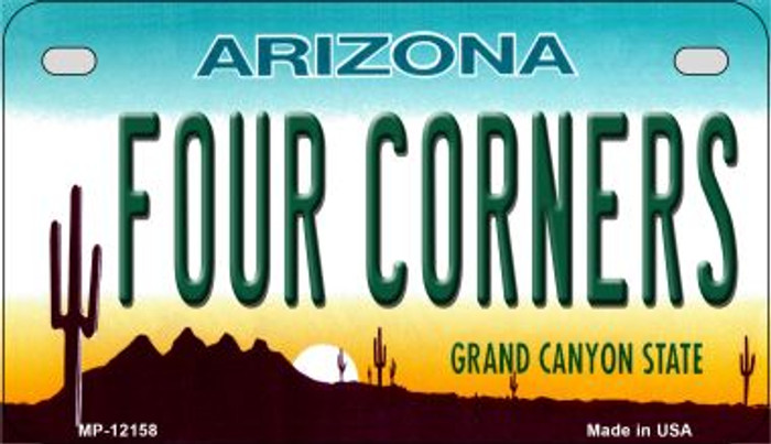 Arizona Four Corners Wholesale Novelty Metal Motorcycle Plate MP-12158