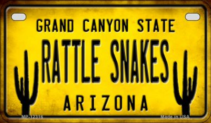 Arizona Rattle Snakes Wholesale Novelty Metal Motorcycle Plate MP-12316