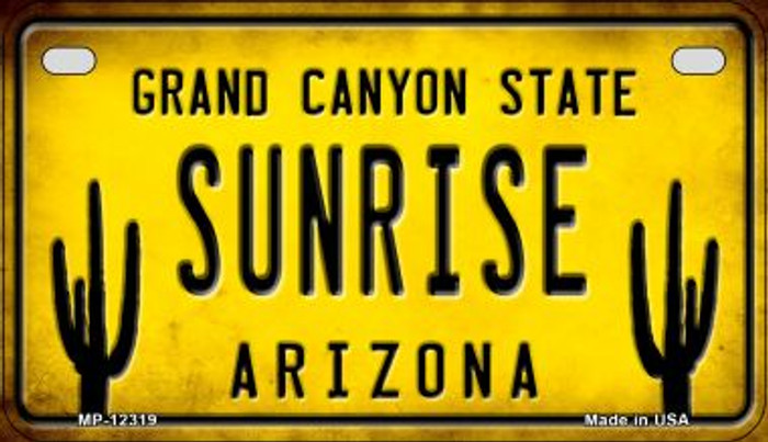 Arizona Sunrise Wholesale Novelty Metal Motorcycle Plate MP-12319