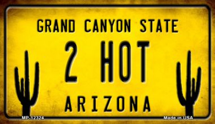 Arizona 2 Hot Wholesale Novelty Metal Motorcycle Plate MP-12324