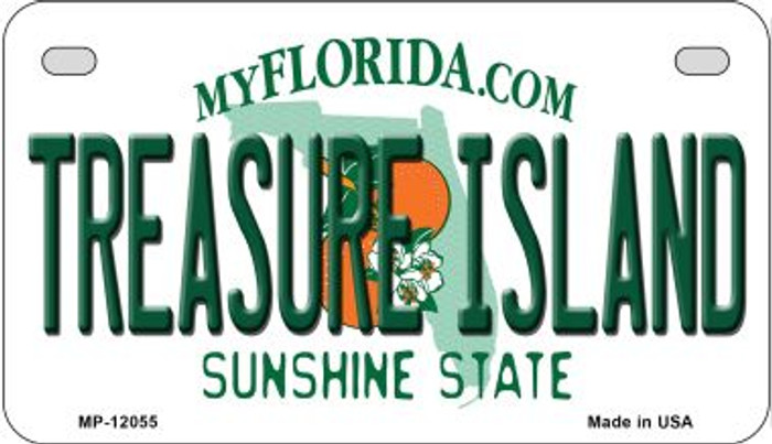 Florida Treasure Island Wholesale Novelty Metal Motorcycle Plate MP-12055