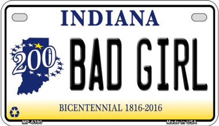 Indiana Bad Girl Wholesale Novelty Metal Motorcycle Plate MP-6390