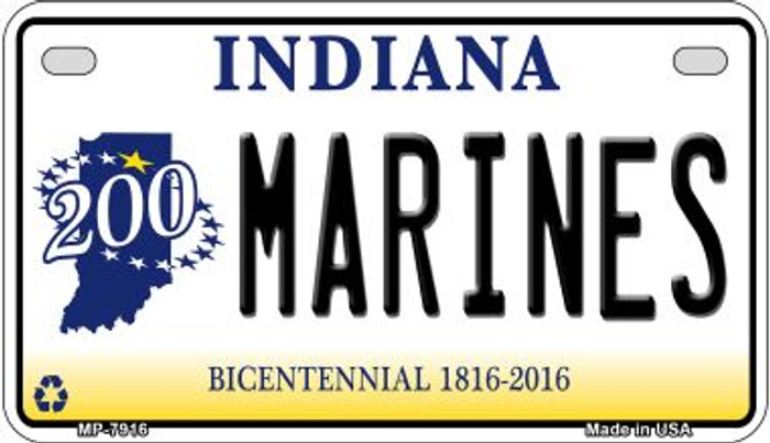 Indiana Marines Wholesale Novelty Metal Motorcycle Plate MP-7916