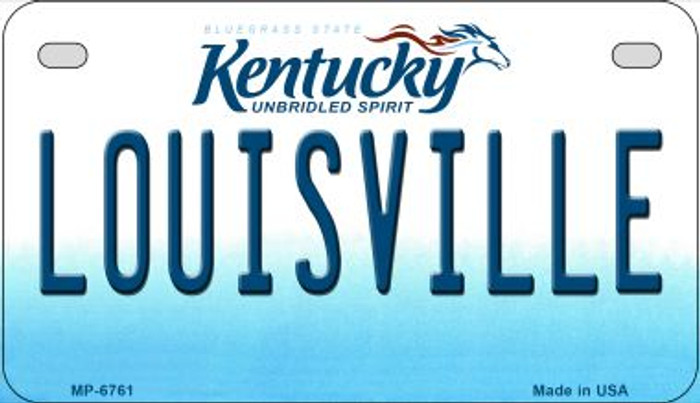Kentucky Louisville Wholesale Novelty Metal Motorcycle Plate MP-6761