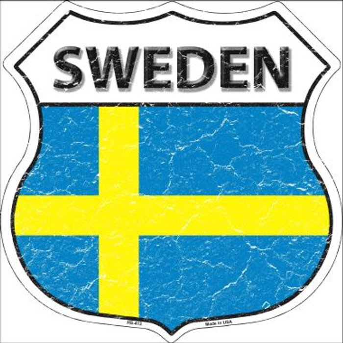 Sweden Country Flag Highway Shield Wholesale Metal Sign