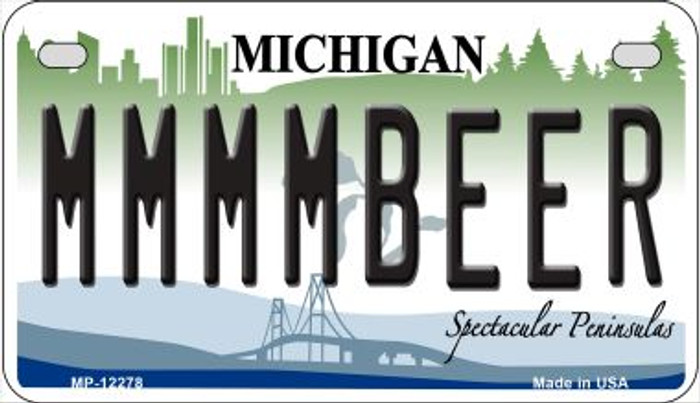 Michigan MMMMBeer Wholesale Novelty Metal Motorcycle Plate MP-12278