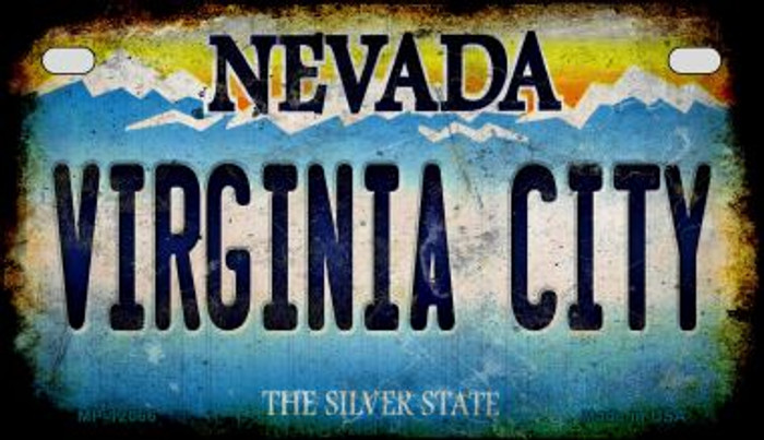 Nevada Virginia City Wholesale Novelty Metal Motorcycle Plate MP-12066