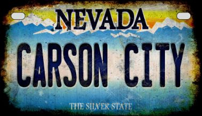 Nevada Carson City Wholesale Novelty Metal Motorcycle Plate MP-12067