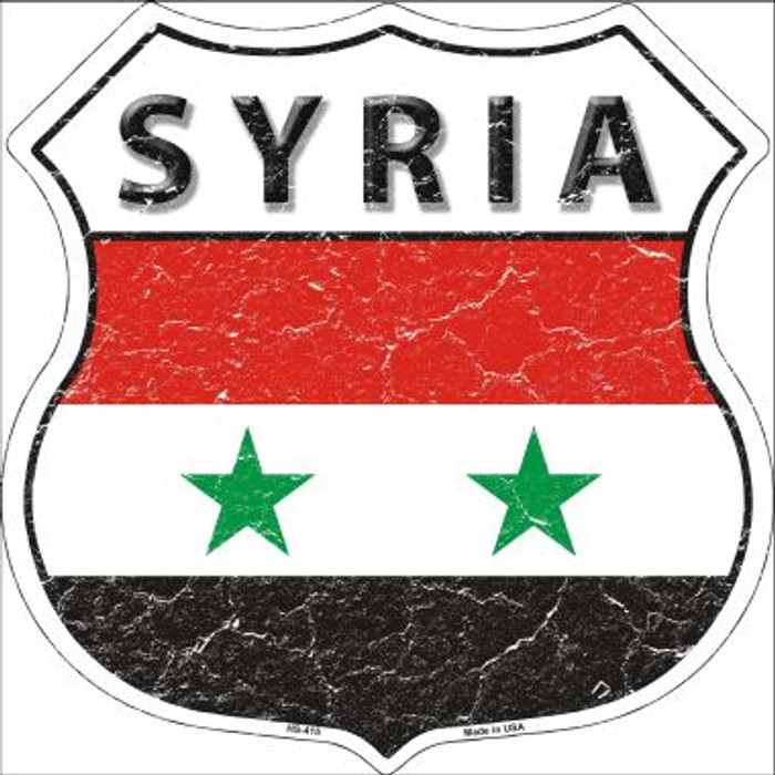 Syria Country Flag Highway Shield Wholesale Metal Sign