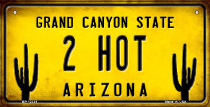 Arizona 2 Hot Wholesale Novelty Metal Bicycle Plate BP-12324