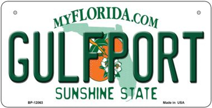 Florida Gulfport Wholesale Novelty Metal Bicycle Plate BP-12063