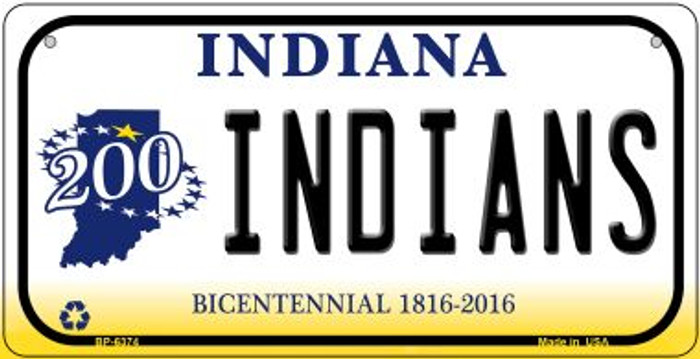 Indiana Indians Wholesale Novelty Metal Bicycle Plate BP-6374