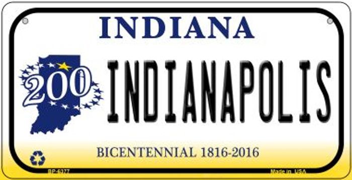 Indiana Indianapolis Wholesale Novelty Metal Bicycle Plate BP-6377