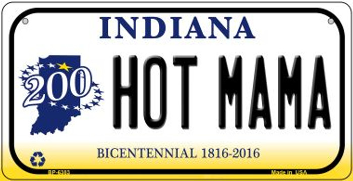 Indiana Hot Mama Wholesale Novelty Metal Bicycle Plate BP-6383