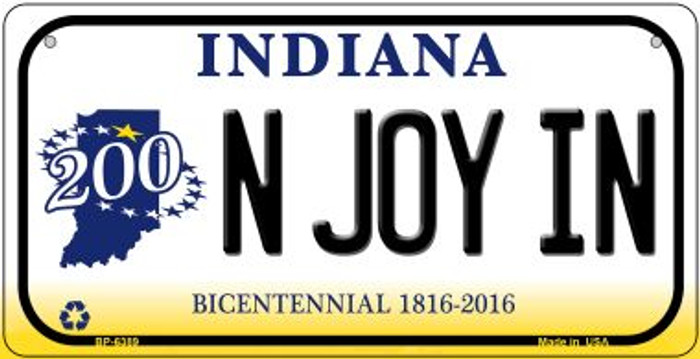 Indiana N Joy IN Wholesale Novelty Metal Bicycle Plate BP-6389