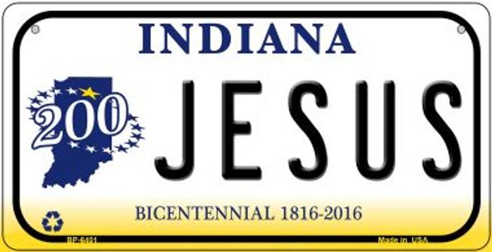 Indiana Jesus Wholesale Novelty Metal Bicycle Plate BP-6401