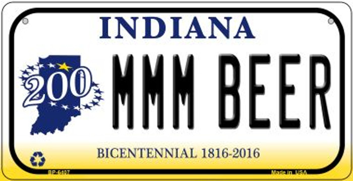 Indiana MMMBeer Wholesale Novelty Metal Bicycle Plate BP-6407