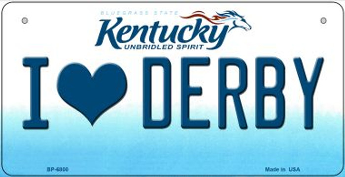Kentucky I Love Derby Wholesale Novelty Metal Bicycle Plate BP-6800