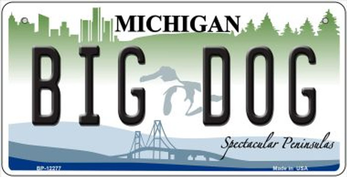 Michigan Big Dog Wholesale Novelty Metal Bicycle Plate BP-12277