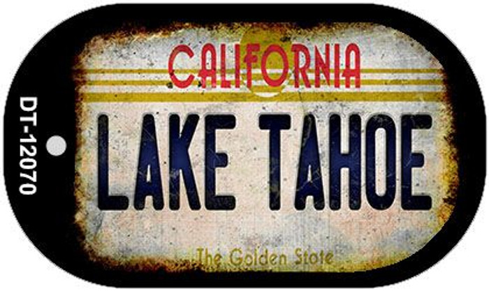 California Lake Tahoe Wholesale Novelty Metal Dog Tag Necklace DT-12070