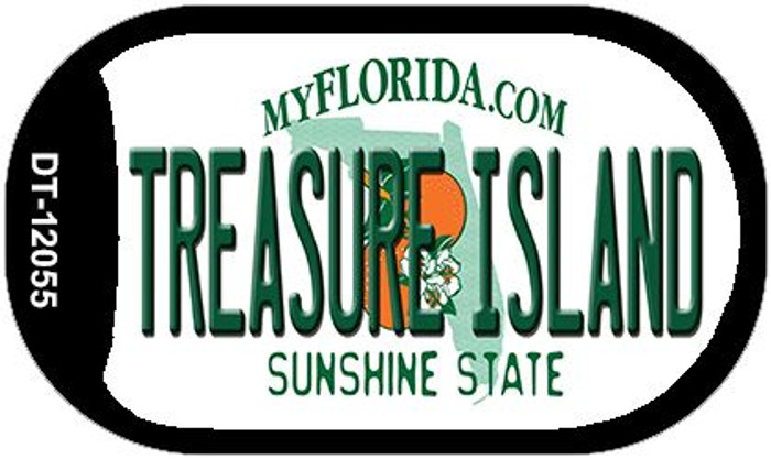 Florida Treasure Island Wholesale Novelty Metal Dog Tag Necklace DT-12055