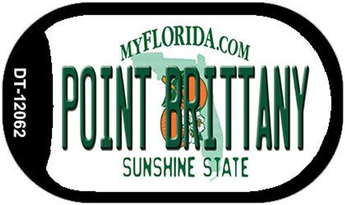 Florida Point Brittany Wholesale Novelty Metal Dog Tag Necklace DT-121062