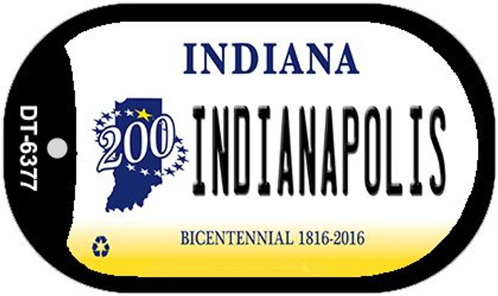 Indiana Indianapolis Wholesale Novelty Metal Dog Tag Necklace DT-6377