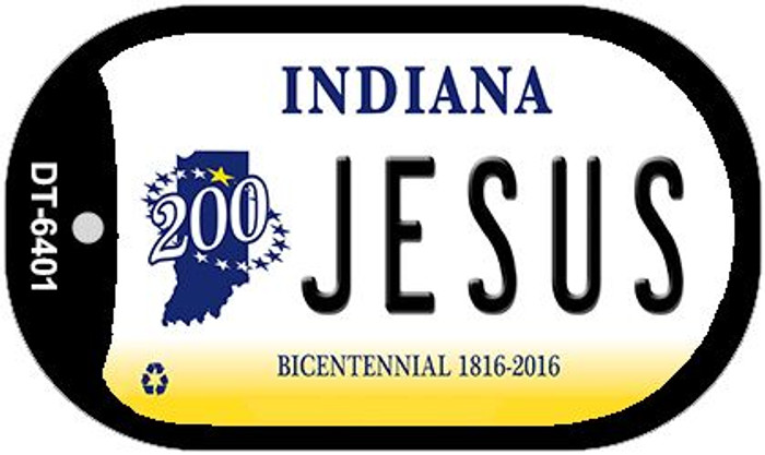 Indiana Jesus Wholesale Novelty Metal Dog Tag Necklace DT-6401