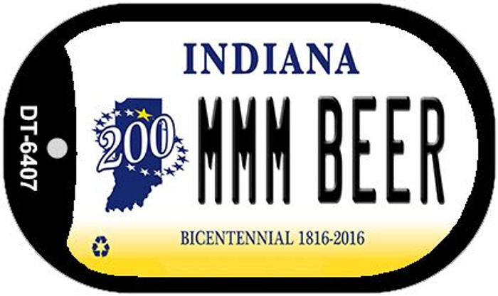 Indiana MMMBeer Wholesale Novelty Metal Dog Tag Necklace DT-6407