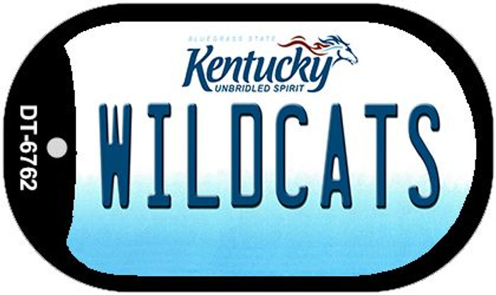 Kentucky Wildcats Wholesale Novelty Metal Dog Tag Necklace DT-6762