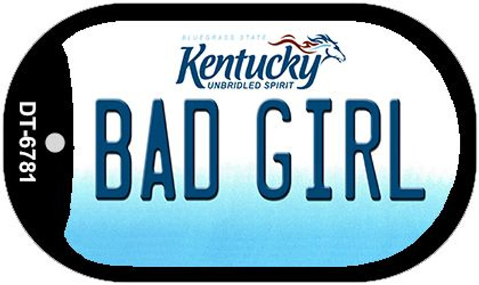Kentucky Bad Girl Wholesale Novelty Metal Dog Tag Necklace DT-6781